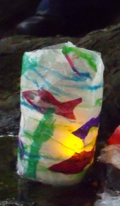 a bottle-lantern from a Tiny! lantern parade